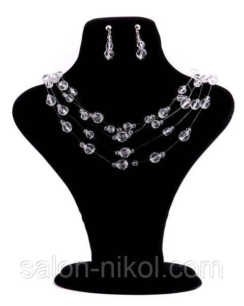 Свадебное колье и сережки NA9-01237