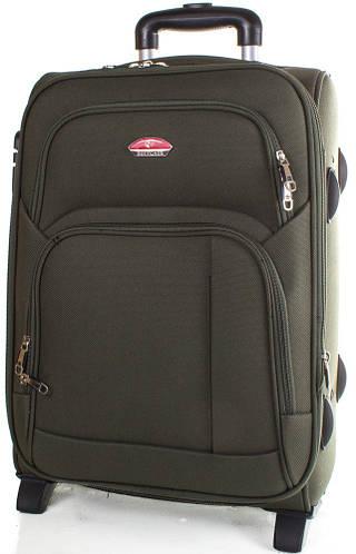 Чемодан средний тканевый на 2-х колесах 56 л. Suitcase (Сьюткейс) АPT001M-16 (Зеленый)