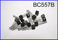 BC557B, транзистор, p-n-p.