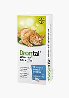 Дронтал (Drontal) таблетки от глистов для кошек, 8 таблеток