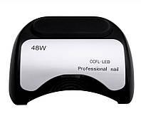 Лампа LED + CCFL для гель-лаков и для геля, спираль 48 Вт, с таймером 10, 20 и 30 сек Black