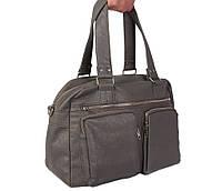 Дорожная сумка и сумка для фитнеса из искусственной кожи серая