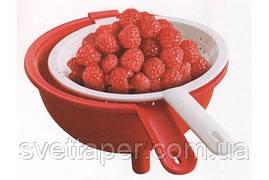Дуршлаг двойной Г12 в красном цвете Tupperware