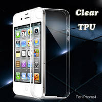 Силиконовый чехол 0,33 мм для Apple iPhone 4/4S прозрачный