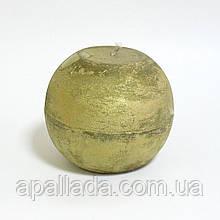 Свеча в форме шара 8см, цвет - золото