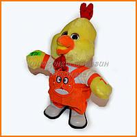 Механическая игрушка цыпленок в комбинезоне 30 см