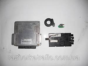 Блок управления двигателем 1,9, иммобилайзер, чип ключа, блок комфорта (Комплект) на Trafic, Vivaro, Primastar