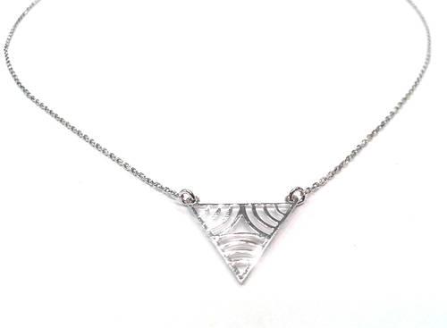 Серебряное колье Треугольник - Серебряная цепочка