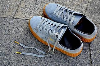 Кроссовки Puma by Rihanna, серого цвета, модные кроссовки, фото 2