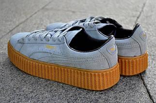 Кроссовки Puma by Rihanna, серого цвета, модные кроссовки, фото 3