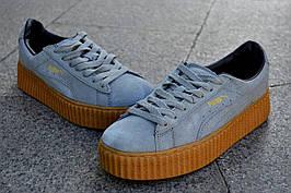 Кроссовки Puma by Rihanna, серого цвета, модные кроссовки