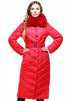 Женское стеганое зимнее пальто р. 44-58 арт. Мария