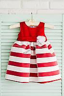 Красное платье для девочки 7021