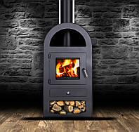 Камин Печь буржуйка стальная 9 кВт + термостойкие перчатки S