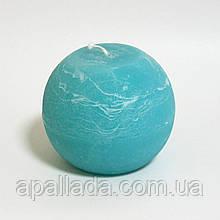 Свеча в форме шара 8см, цвет - лагуна