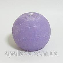 Свеча в форме шара 8см, цвет - лавандовый