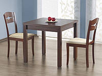 Деревянный кухонный стол Halmar Gracjan с раздвижной столешницей темный орех