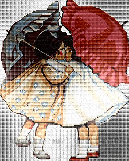 """Набор для вышивания гобелена """"Luca-S"""" G378 Примирившиеся девочки"""
