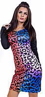 Платье женское леопард цветное