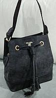 Сумка- мешок Prada Прада цвет черный