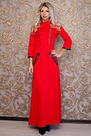 Красное платье макси в пол