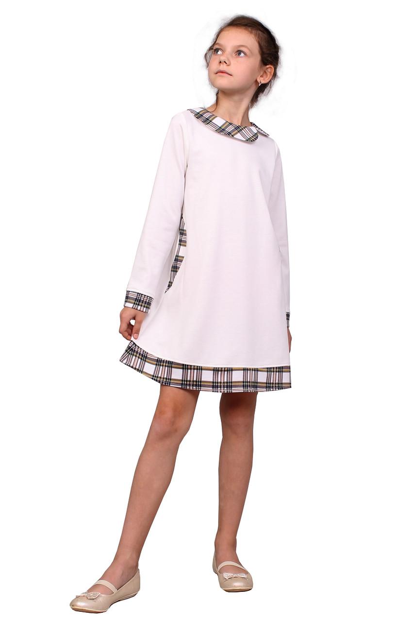 be6c67b41e4c32 Платье детское с длинным рукавом М -942 рост 98-140 трикотажное разных  цветов -