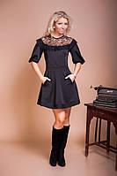 Нарядное платье с расклешенной юбкой