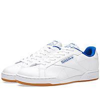 Оригинальные  кроссовки Reebok NPC UK II CP White & Collegiate Royal