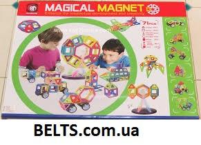 3D детский магнитный конструктор Magical Magnet 40 (Меджикал Магнет 40 деталей)