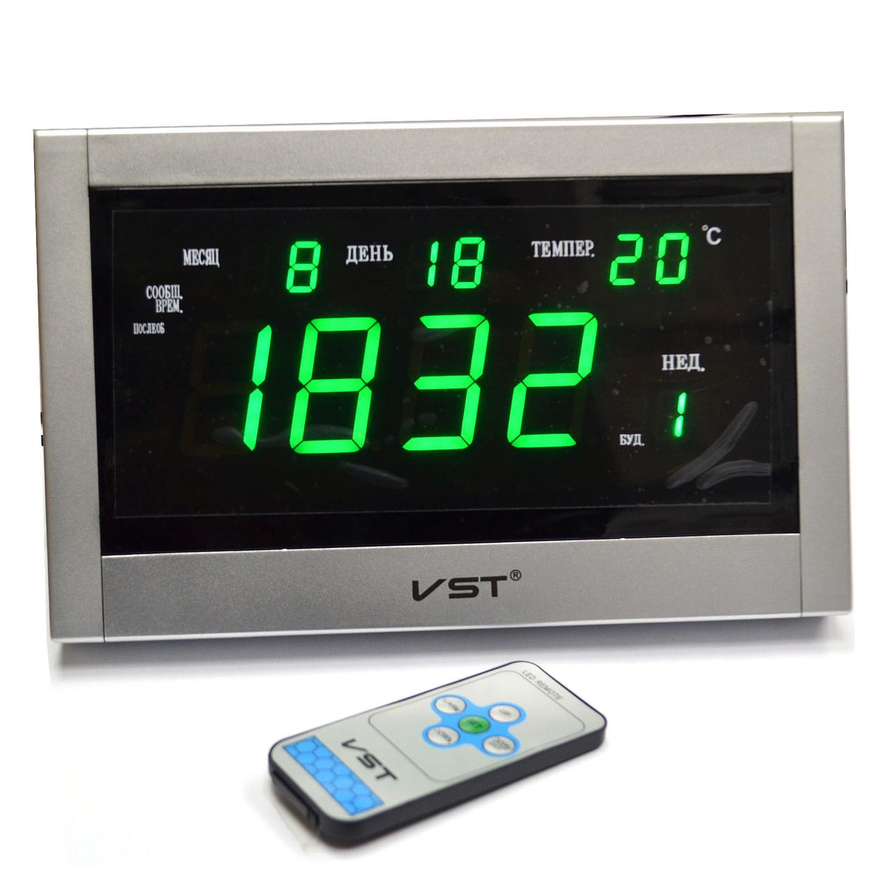 Говорящие сетевые часы VST 771 Т-4 — Настольное и настенное крепление