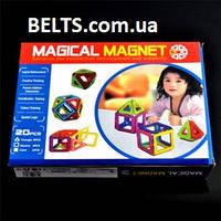 Детский 3D конструктор магнитный Magical Magnet 20 (Меджикал Магнет 20 деталей)