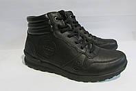 Мужские зимние кожаные ботинки ECCO (23222) черные 3004А