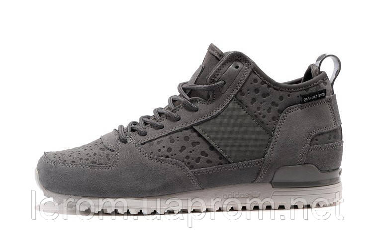 "Мега модные  и тёплые замшевые ботинки adidas  Military Trail Runner ""Grey/White"""