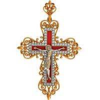 Великолепный неописуемый золотой крест 585* пробы