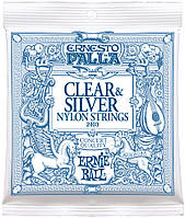 Струны Ernie Ball 2403 Ernesto Palla Nylon Clear and Silver (0.28-0.42) для классической гитары