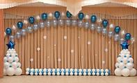Оформление шарами новый год, шарики с гелием