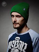 Шапка (зимняя, без помпона) Urban Planet - Classic Benie Grn (зелёный)