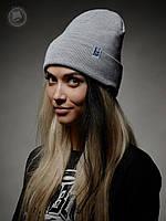 Шапка (зимняя, без помпона) Urban Planet - Classic Benie Heather (серый)