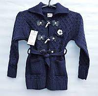 Кардиган вязаный для девочки 6-9 лет BUCUR темно-синий