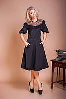 Нарядное платье миди с расклешенной юбкой