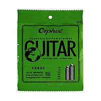 Струны Orphee TX620 Extra Light (0.10-0.47) для акустической гитары