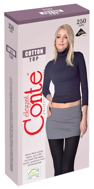 Колготки жіночі хлопокові низька талія Conte Cotton Top 250 (Конте Котон Топ 250 ден), Білорусія