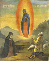 Икона Почаевская Пресвятая Богородица XIX-ый век