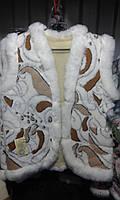 Теплая жилетка из овечьей шерсти женская, фото 1