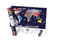 Скретч Карта Мира Travel Map Holiday в тубусе / опт