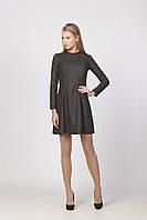 Платье из черного твида