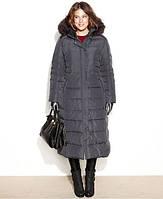 Куртка-пальто с мехом и планочкой на кнопках
