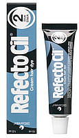 Рефектоцил №2 Черно-синяя - краска для бровей и ресниц RefectoCil 15 мл