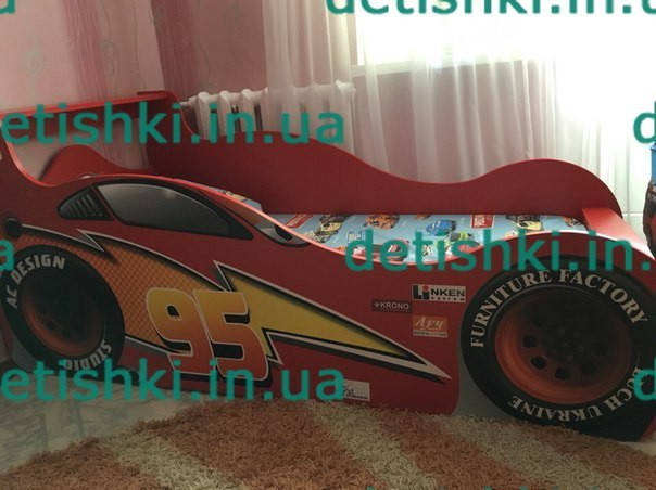 """Кровать машина """"Молния McQueen"""" красная, артикул (010101)"""