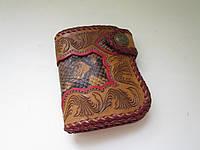 """Маленький кожаный кошелёк: """"LITLE RED SNAKE"""", фото 1"""